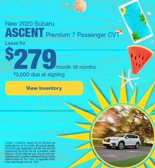 New 2020 Subaru Ascent Premium 7 Passenger CVT