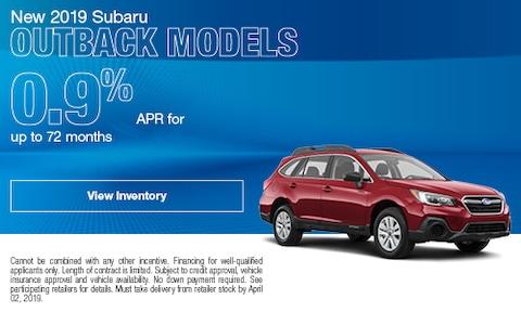 New 2019 Subaru Outback Models