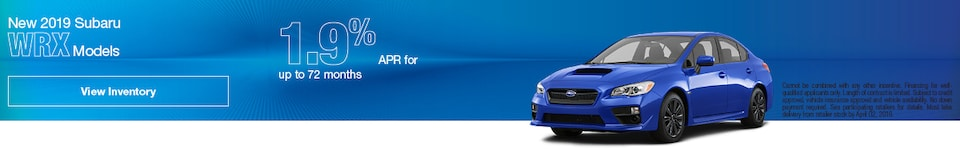 New 2019 Subaru WRX Models