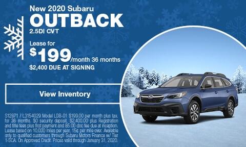 New 2020 Subaru Outback 2.5DI CVT