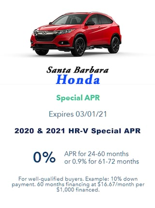 2020 & 2021 HR-V 0 % APR