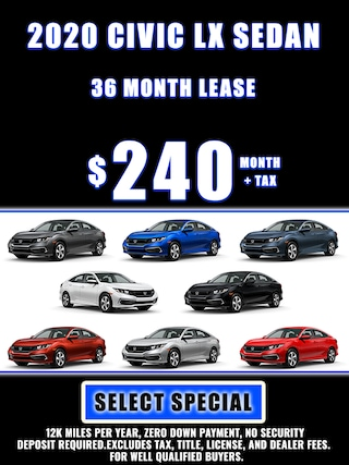 2020 CIVIC SPECIAL LEASE $240 MONTH + TAX