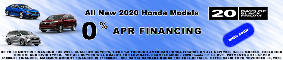 0% APR Financing up to 60 months 2020 Models