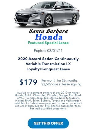 2020 ACCORD FEATURED LEASE