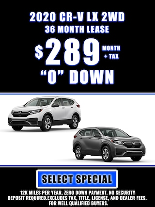 2020 CR-V SPECIAL LEASE $289 MONTH + TAX