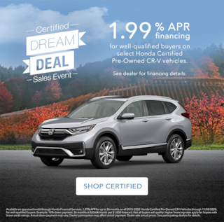 CR-V Certified Pre-Owned