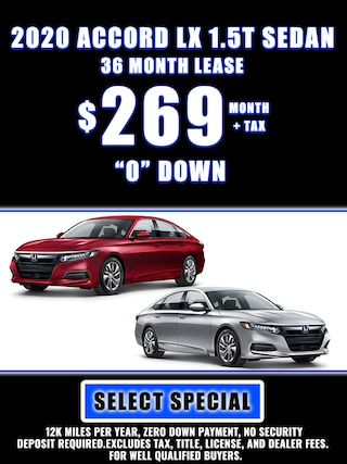 2020 ACCORD LX 1.5T SPECIAL LEASE $269 MONTH + TAX