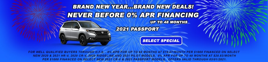 2021 PASSPORT 0 % APR