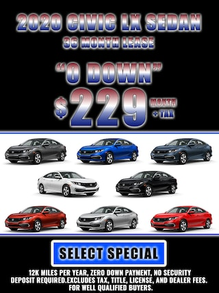 2020 CIVIC JULY 4TH SPECIAL LEASE $229 MONTH + TAX