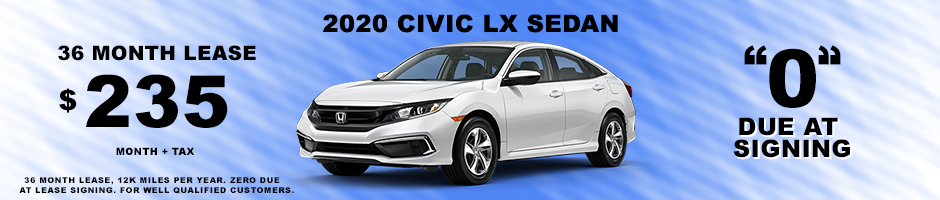 2020 CIVIC SPECIAL LEASE $235 MONTH + TAX