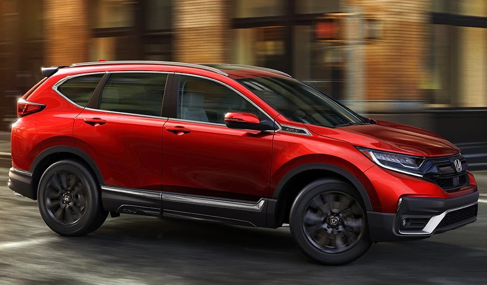 2020 Honda CR-V taking a turn