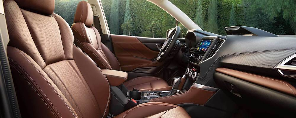 Front seats of 2020 Subaru Forester