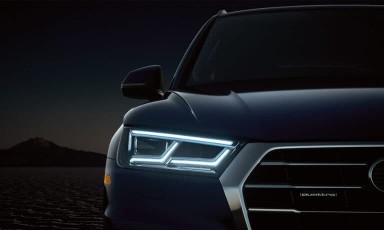 2020 Audi Q5 front-view LED headlights