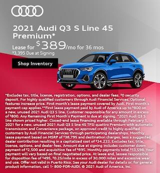 2021 Audi Q3 S Line 45 Premium*