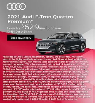 2021 Audi E-Tron Quattro Premium*
