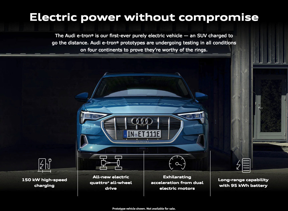 audi e-tron electric power without compromise