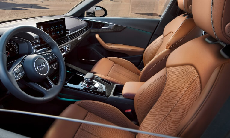 2020 Audi A4 interior front seats driver's side