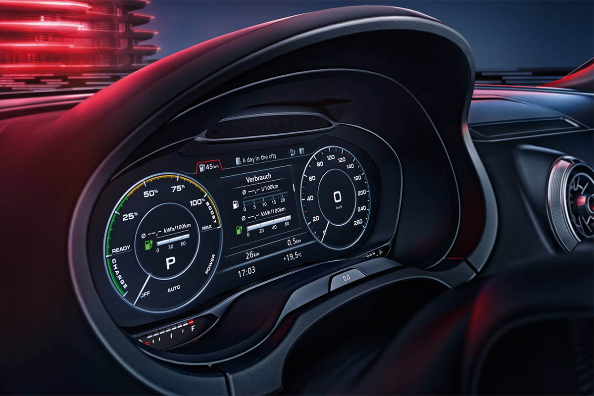 2018 Audi A3 Sportback e-tron Virtual Cockpit Display