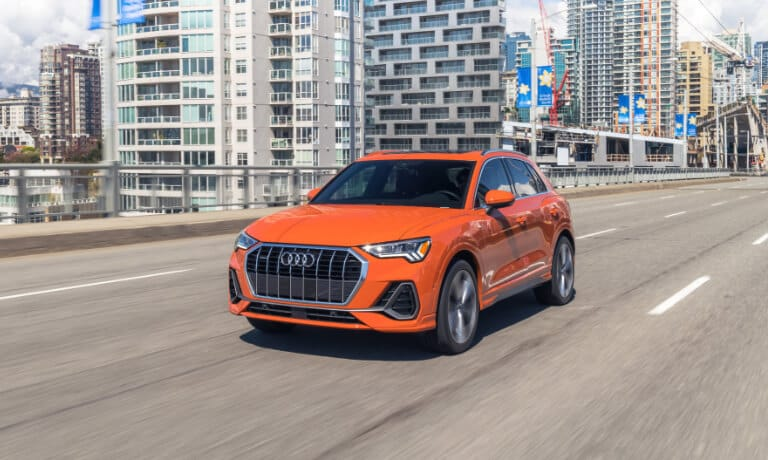 2020 Audi Q3 Driving on the highway