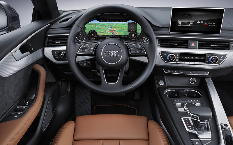 2018 Audi A5 Virtual Cockpit Interior Technology