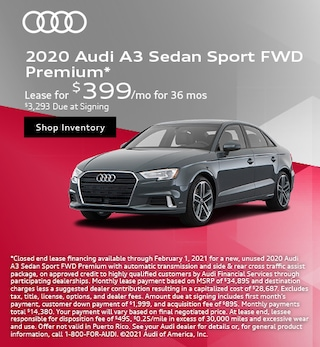2020 Audi A3 Sedan Sport FWD Premium*