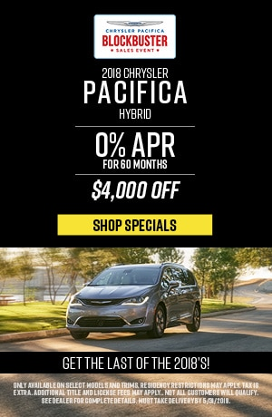 May 2019 Chrysler Pacifica Limited Lease Special