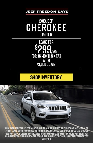 May 2019 Jeep Cherokee Lease Special