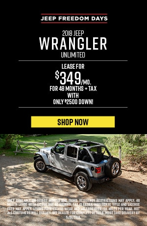 May 2018 Jeep Wrangler Unlimited Lease Special