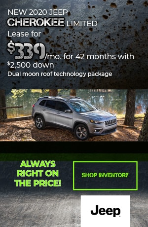 February | 2020 Jeep Cherokee Limited | Lease