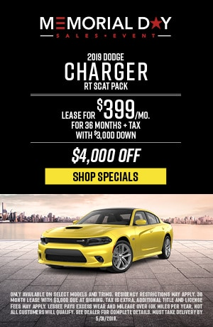 May 2019 Dodge Charger RT Scat Pack Special