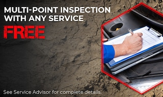 FREE Multi-Point Inspection with Any Service