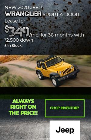 February | 2020 Jeep Wrangler Sport | Lease
