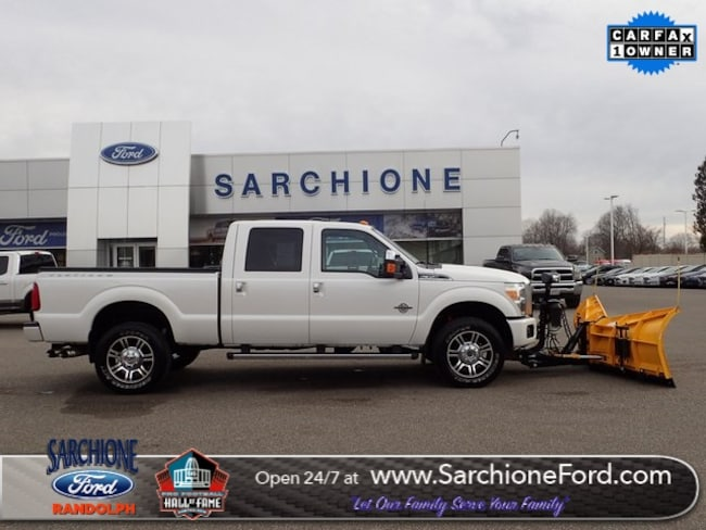 Used 2014 Ford F-350SD Platinum w/Meyer Super V Plow Truck Crew Cab in Randolph, OH