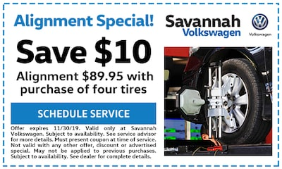 Save $10! Alignment $89.95 with purchase of four tires