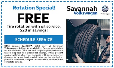 Free Tire Rotation with Oil Service - $20 in savings!