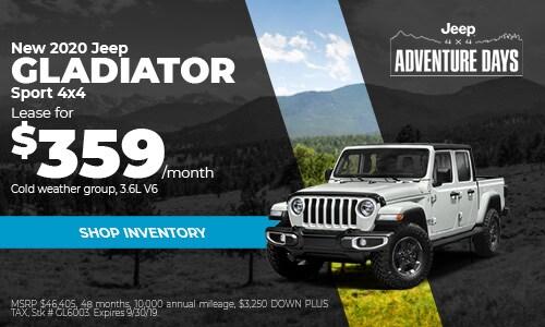 September Jeep Gladiator Lease Offer