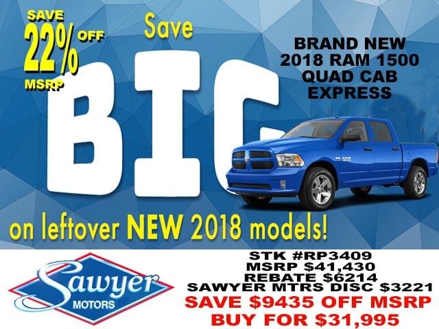 2018 Ram 1500 EXPRESS QUAD CAB 4X4 6'4 BOX Quad Cab
