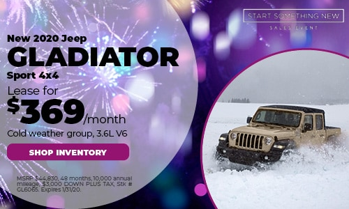 January Jeep Gladiator Lease Offer