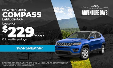 September Jeep Compass Lease Offer