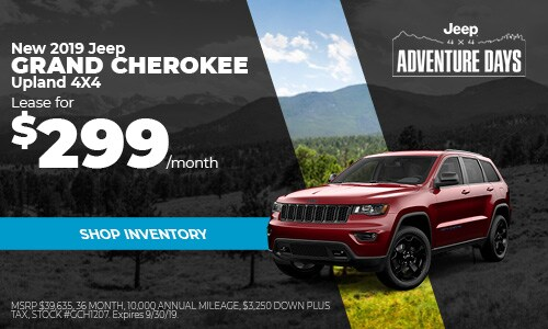 September Jeep Grand Cherokee Lease Offer