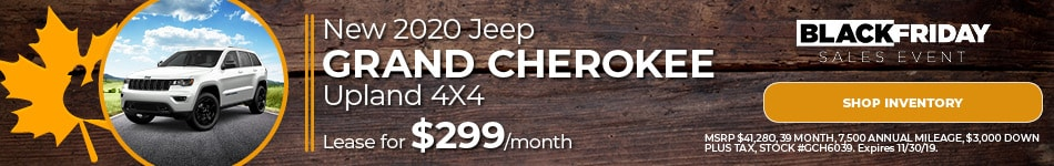 November Jeep Grand Cherokee Lease Offer
