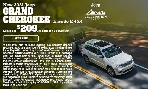 New 2021 Jeep Grand Cherokee Laredo E 4X4- April Offer