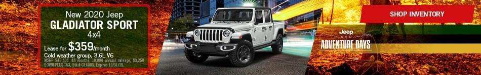 October Jeep Gladiator Lease Offer