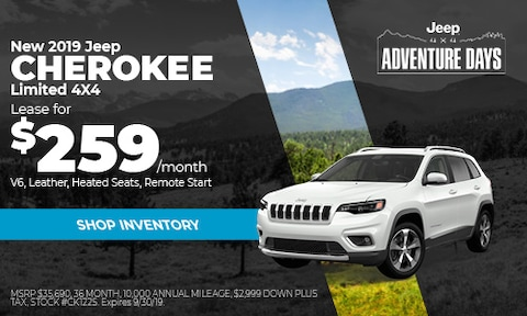September Jeep Cherokee Lease Offer