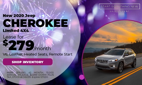 January Jeep Cherokee Lease Offer