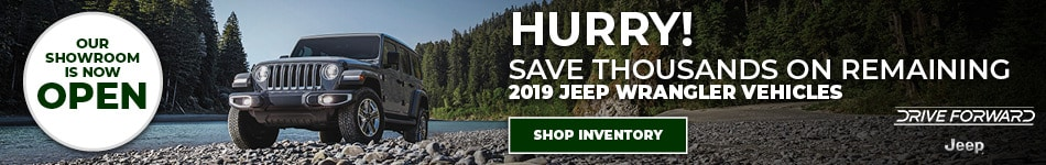 Save Thousands on Remaining 2019 Jeep Wrangler
