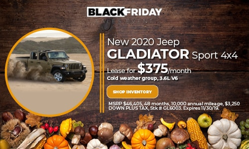 November Jeep Gladiator Lease Offer