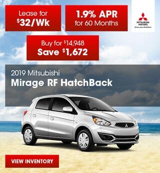 2019 Mirage RF Hatchback