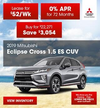2019 Ecliplse Cross 1.5 ES CUV