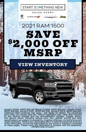 January 2021 RAM 1500 Offer
